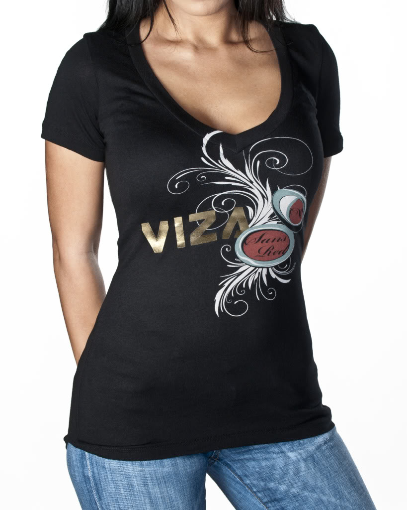 Girls 'Sans Red' V-Neck
